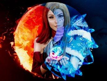Косплей дня: Crystal Maiden и Lina из Dota 2