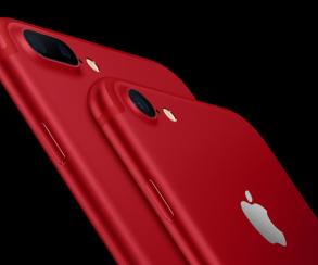 Apple выпустила iPhone 7 и 7 Plus в красном цвете