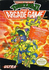 Обложка Teenage Mutant Ninja Turtles II: The Arcade Game