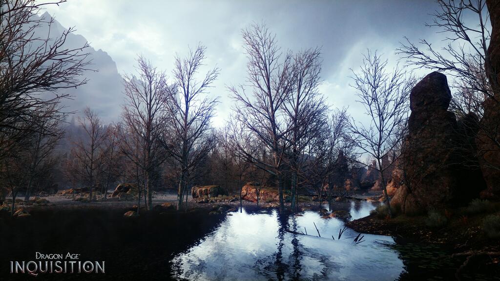 В кадр из новой Dragon Age попал пруд у подножья горы - Изображение 1