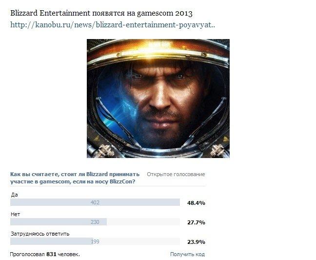 Сообщество Канобу сделало свой выбор в пользу Blizzard на gamescom - Изображение 1