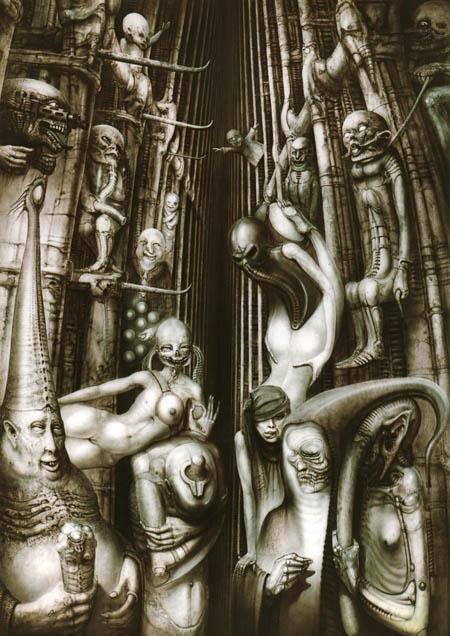 Галерея самых жутких артов Гигера. Страсть, секс истрах - Изображение 17