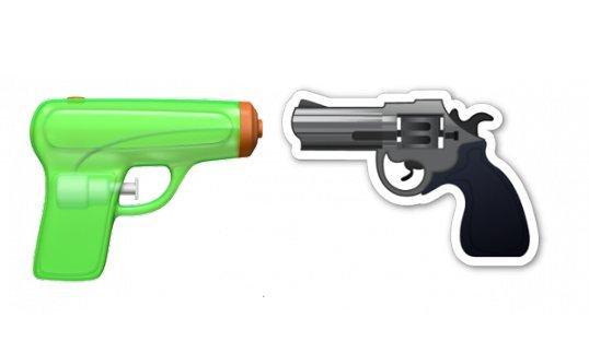 Apple разоружает смайлики: револьвер заменили на водяной пистолет - Изображение 1