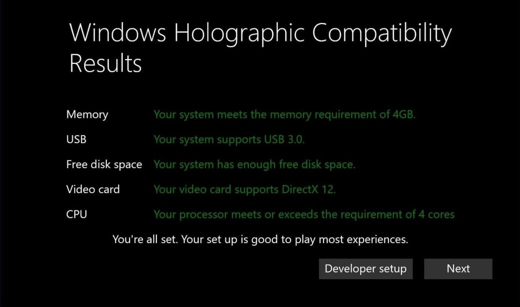 Минимальные системные требования для VR-шлемов на Windows 10 - Изображение 1