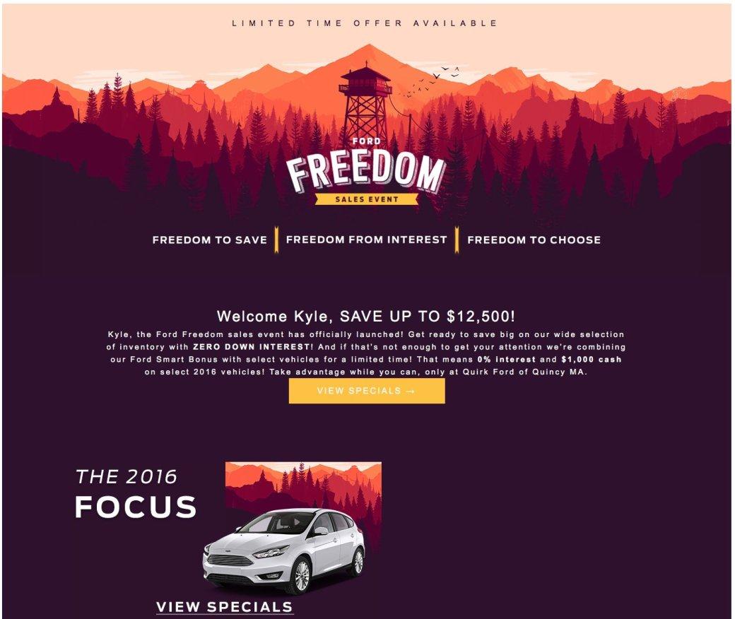 Дистрибьютор Ford украл у Firewatch арт для своей рекламной кампании - Изображение 2