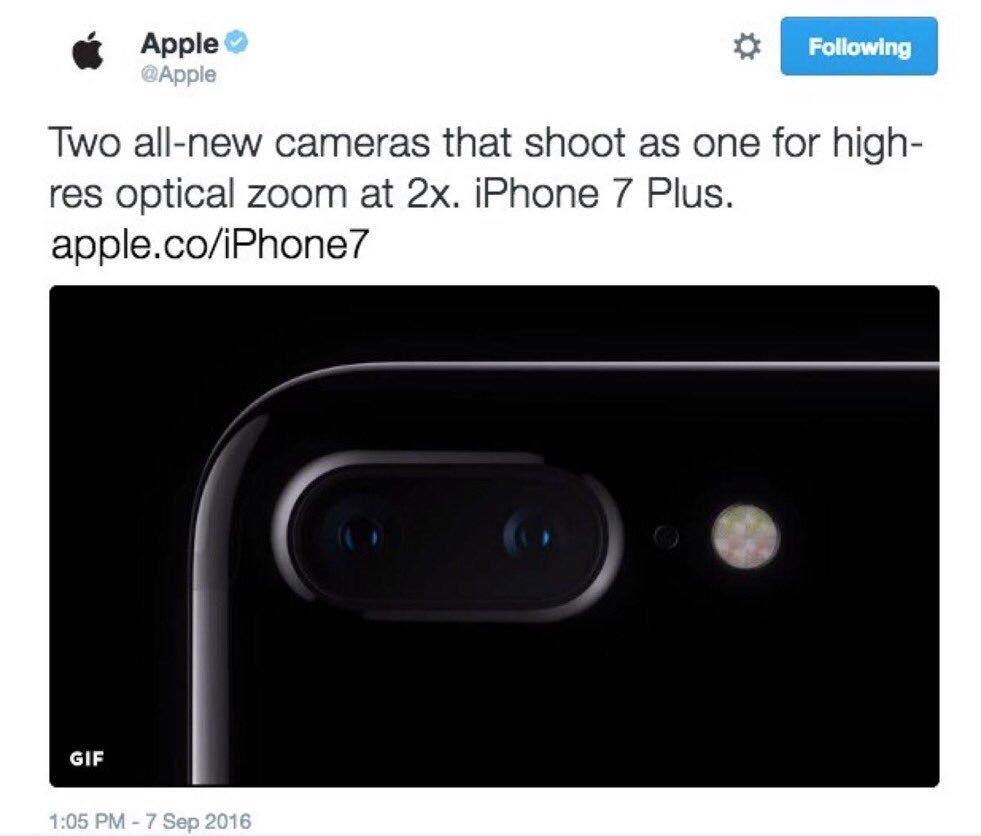 Apple анонсировала iPhone 7 раньше времени, а потом удалила твит - Изображение 2