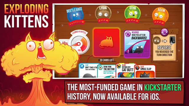 Exploding Kittens – самая успешная игра Kickstarter – вышла на iOS - Изображение 1