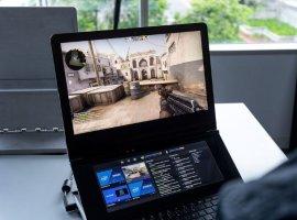 Intel показала необычный геймерский ноутбук Honeycomb Glacier сдвумя экранами иподставкой