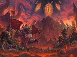 Андуин Ринн отвешивает оплеуху Гневиону в кат-сцене из патча 8.3 для World of Warcraft