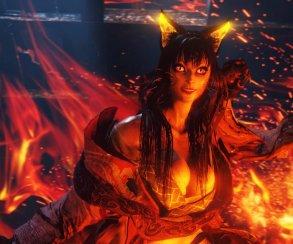 Битва с огненной женщиной-кошкой в 19-минутном геймплее Nioh 2