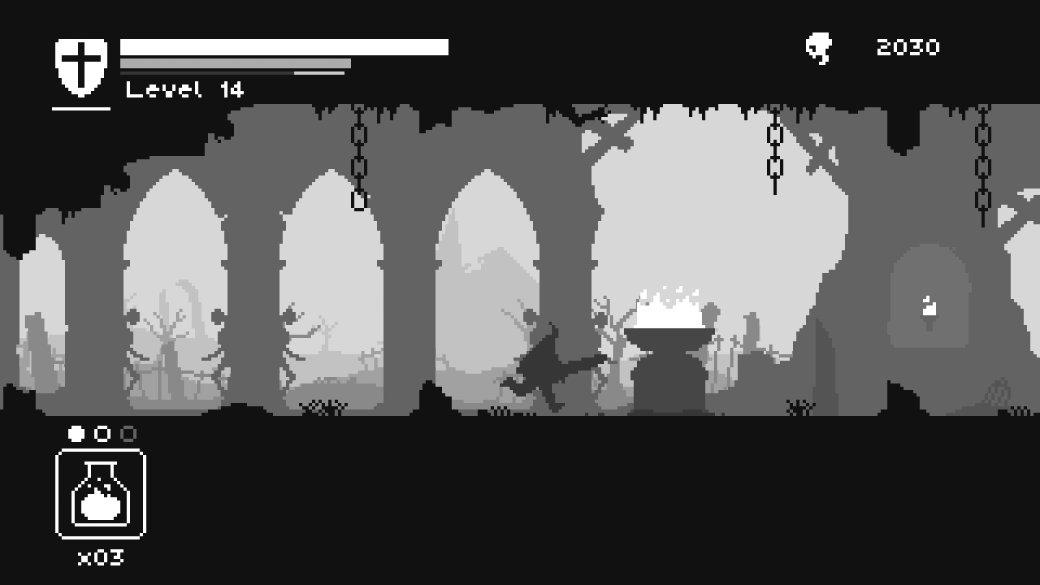 «Черный, белый и кровь»: Unworthy — самый минималистичный аналог Dark Souls в мире. - Изображение 1