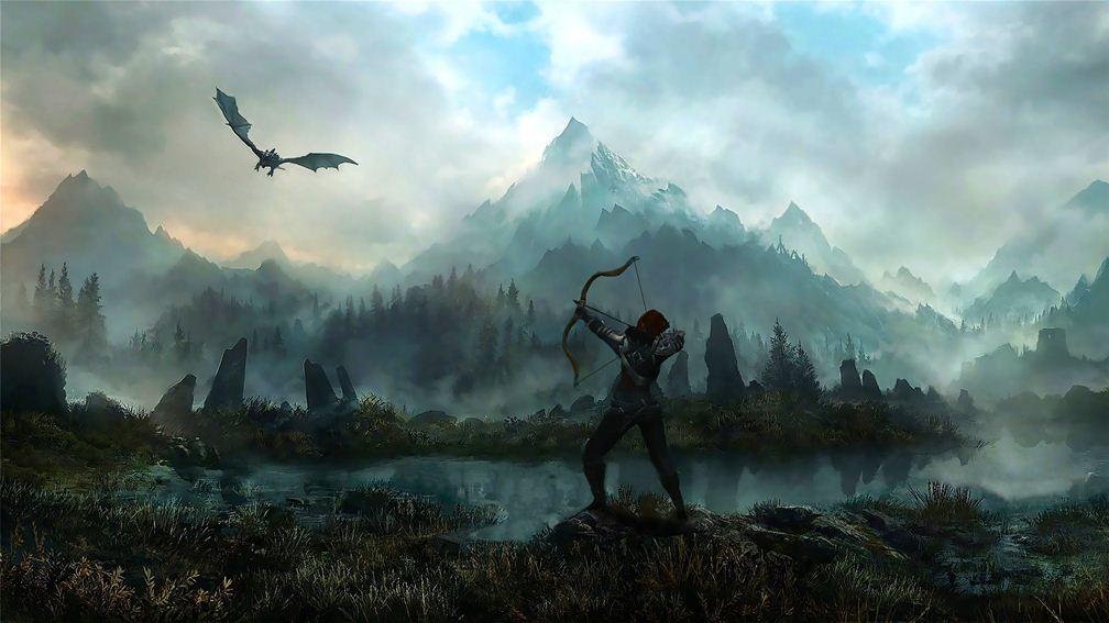 Гифка дня: противник вThe Elder Scrolls V: Skyrim, который лучшебы стал скейтером | Канобу - Изображение 5245