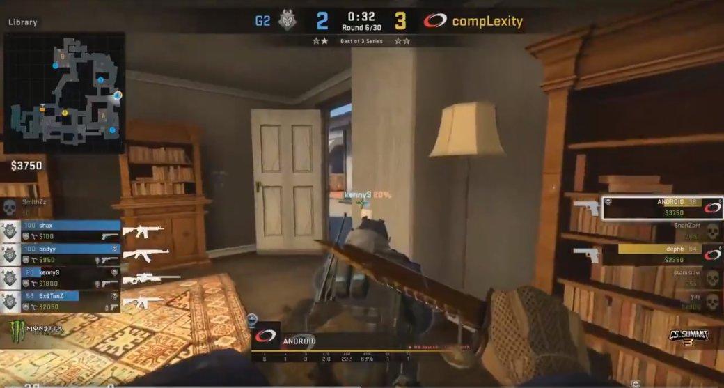 Забавный момент натурнире поCS:GO. Игрок 10 секунд стоял заспиной противника | Канобу - Изображение 5427