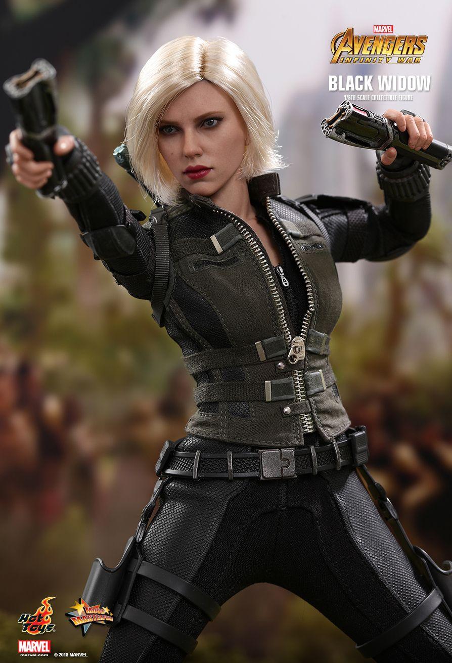 Фигурка Черной вдовы из «Войны Бесконечности» от Hot Toys. Ее можно расчесывать как Барби!. - Изображение 6