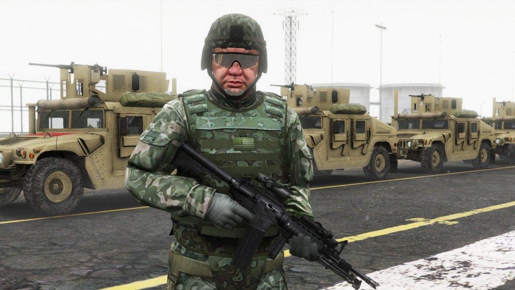 Гифка дня: очень наглый военный в Grand Theft Auto 5. - Изображение 1