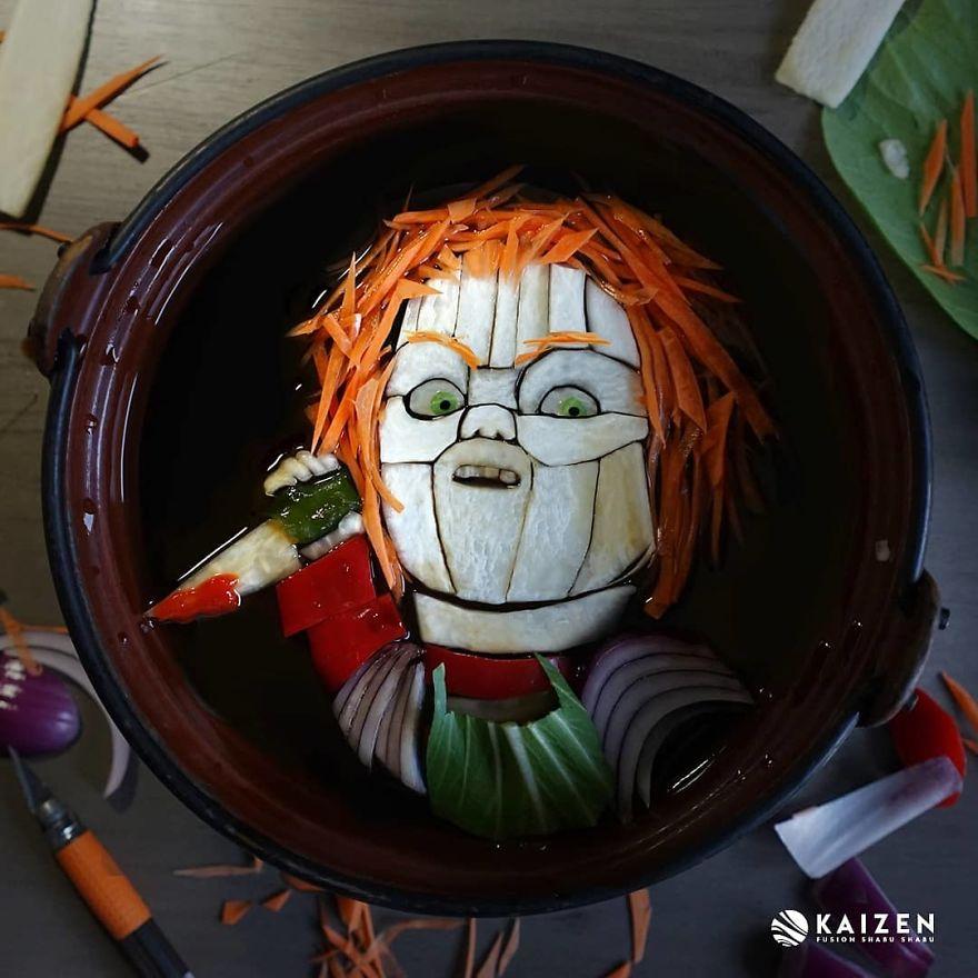 Художница сделала портреты монстров из ужасов из обычной еды   Канобу - Изображение 3736