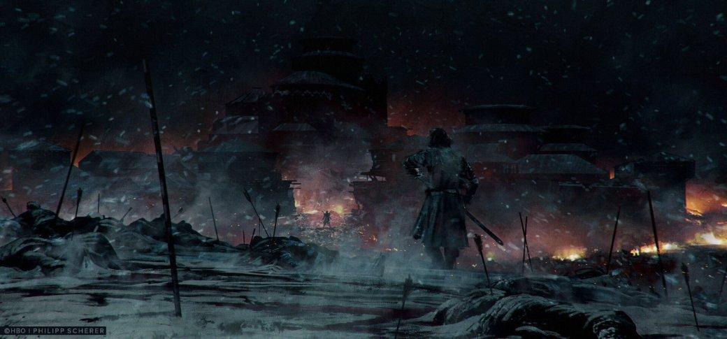 Художник выложил концепт-арты к8 сезону «Игры престолов». Иххоть сейчас ставь нарабочий стол | Канобу - Изображение 687