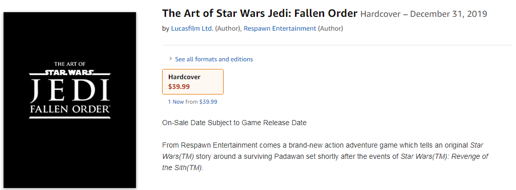 ЕА поделилась первым артом игры Star Wars Jedi: Fallen Order. Презентация уже скоро! | Канобу - Изображение 3
