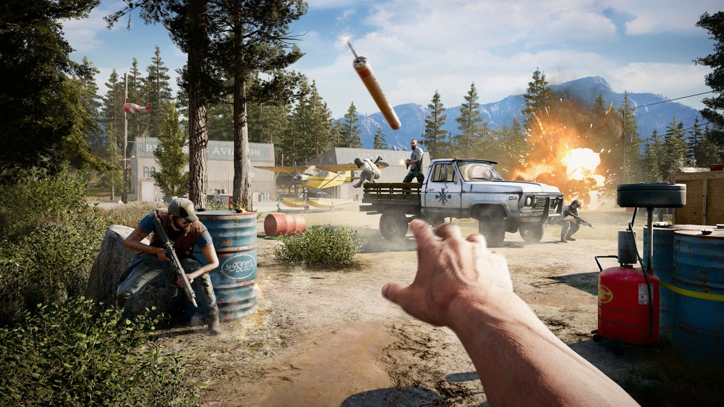 Графику Far Cry 5 на PS4 Pro, Xbox One X и PC сравнили на видео. Вы тоже видите артефакты? | Канобу - Изображение 1
