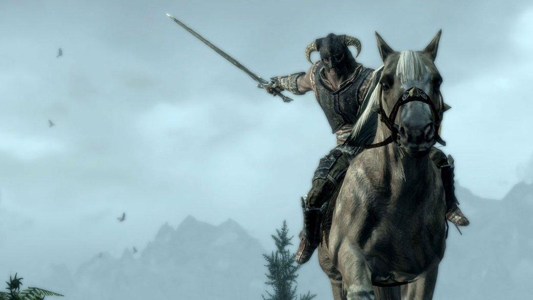 Гифка дня: лошадь, мечтающая ополетах, вThe Elder Scrolls V: Skyrim | Канобу - Изображение 1