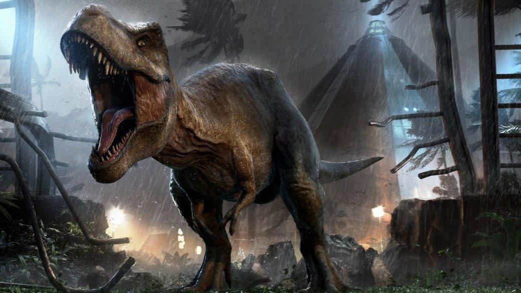 Фильм «Мир Юрского периода» для всей франшизы стал примерно темже, чем компания In-Gen стала впервом фильме для динозавров— билетом стого света. Картина моментально порвала вклочья бокс-офис, собрав почти 1.7 миллиарда долларов. Разумеется, столь внезапно свалившийся наголову успех стали развивать— инетолько фильмами, ноииграми. Одной изних истала Jurassic World: Evolution.