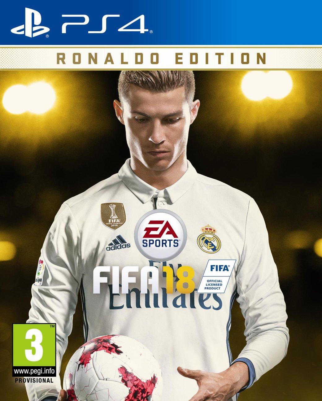 EAпредставила FIFA 18— сКриштиану Роналду наобложке | Канобу - Изображение 1