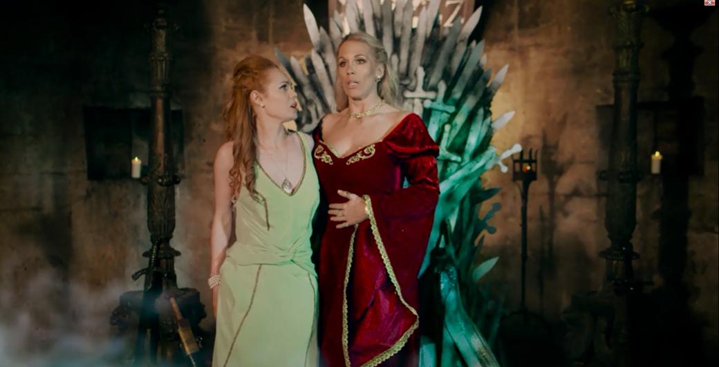 смотреть порно королева престола