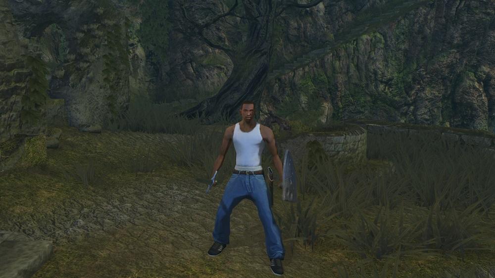 Восславьте Гроув-стрит! Энтузиаст добавил Си-Джея из San Andreas в Dark Souls | Канобу - Изображение 2